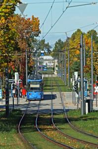 Trambahn an der Anni-Albers-Straße