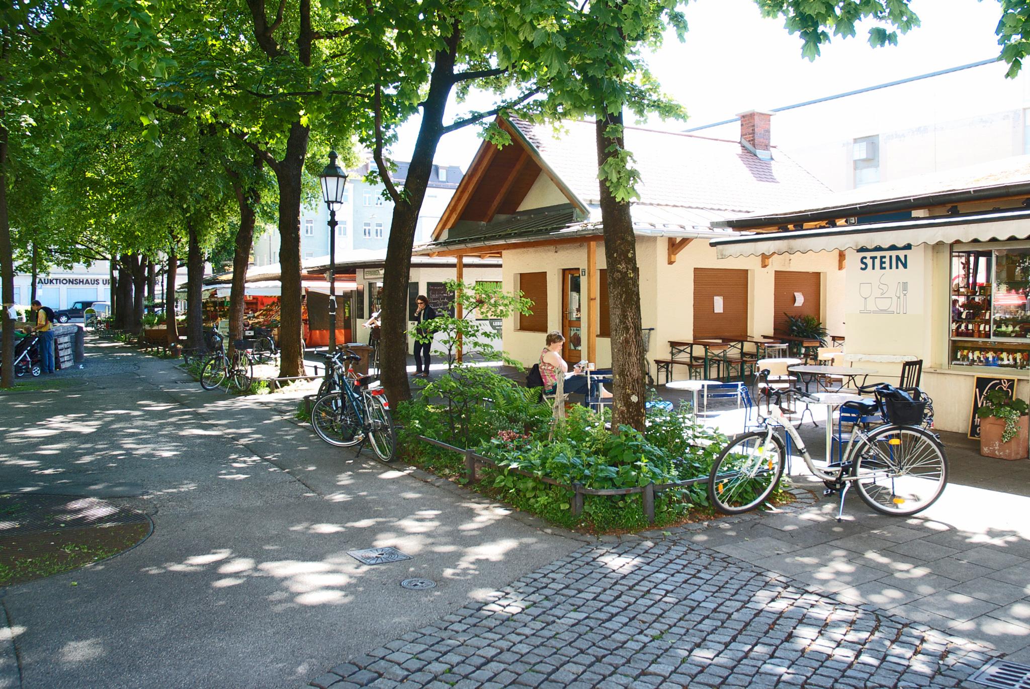 Der Elisabethplatz in Schwabing