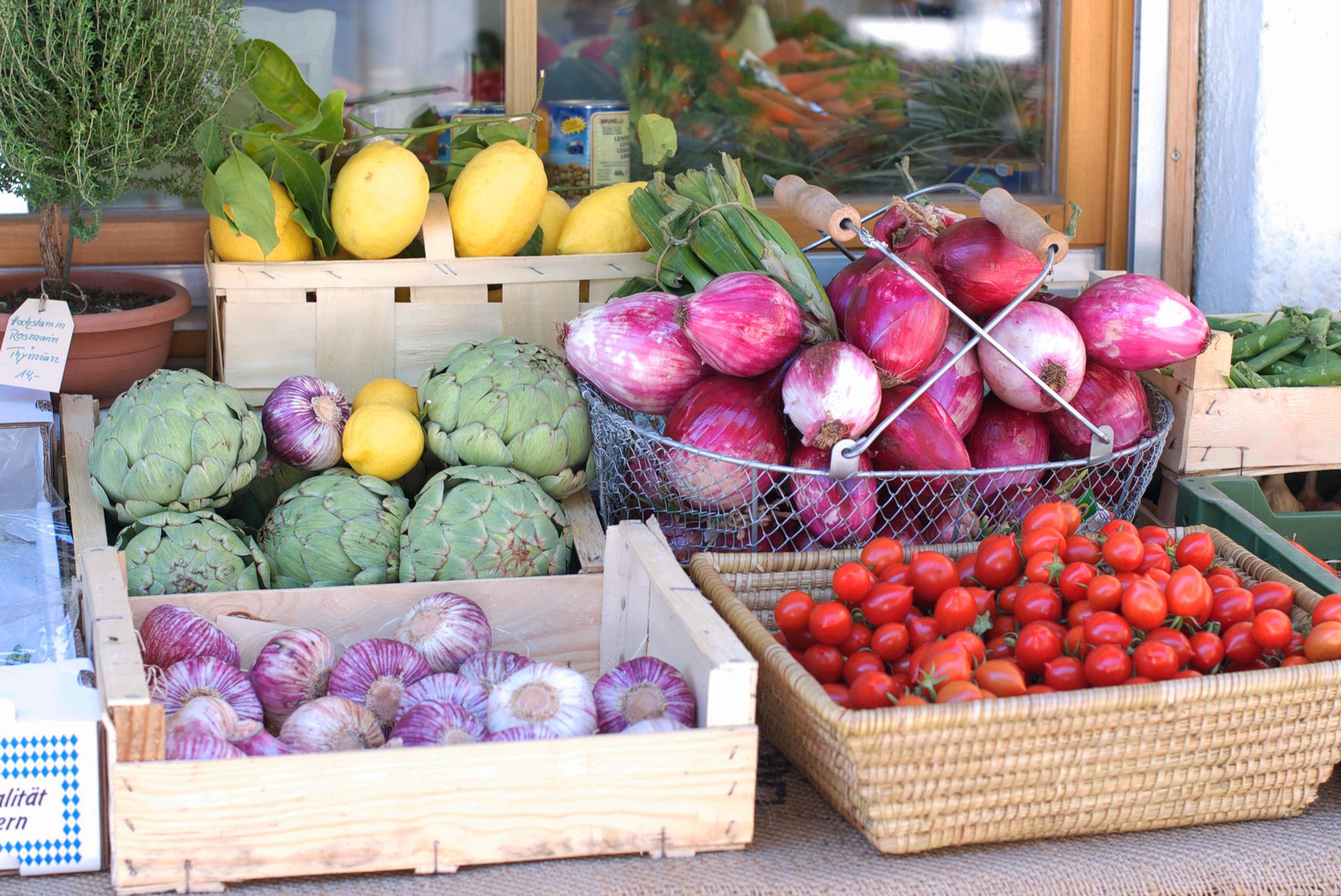 Ein buntes Motiv – Obst und Gemüse auf dem Elisabethmarkt