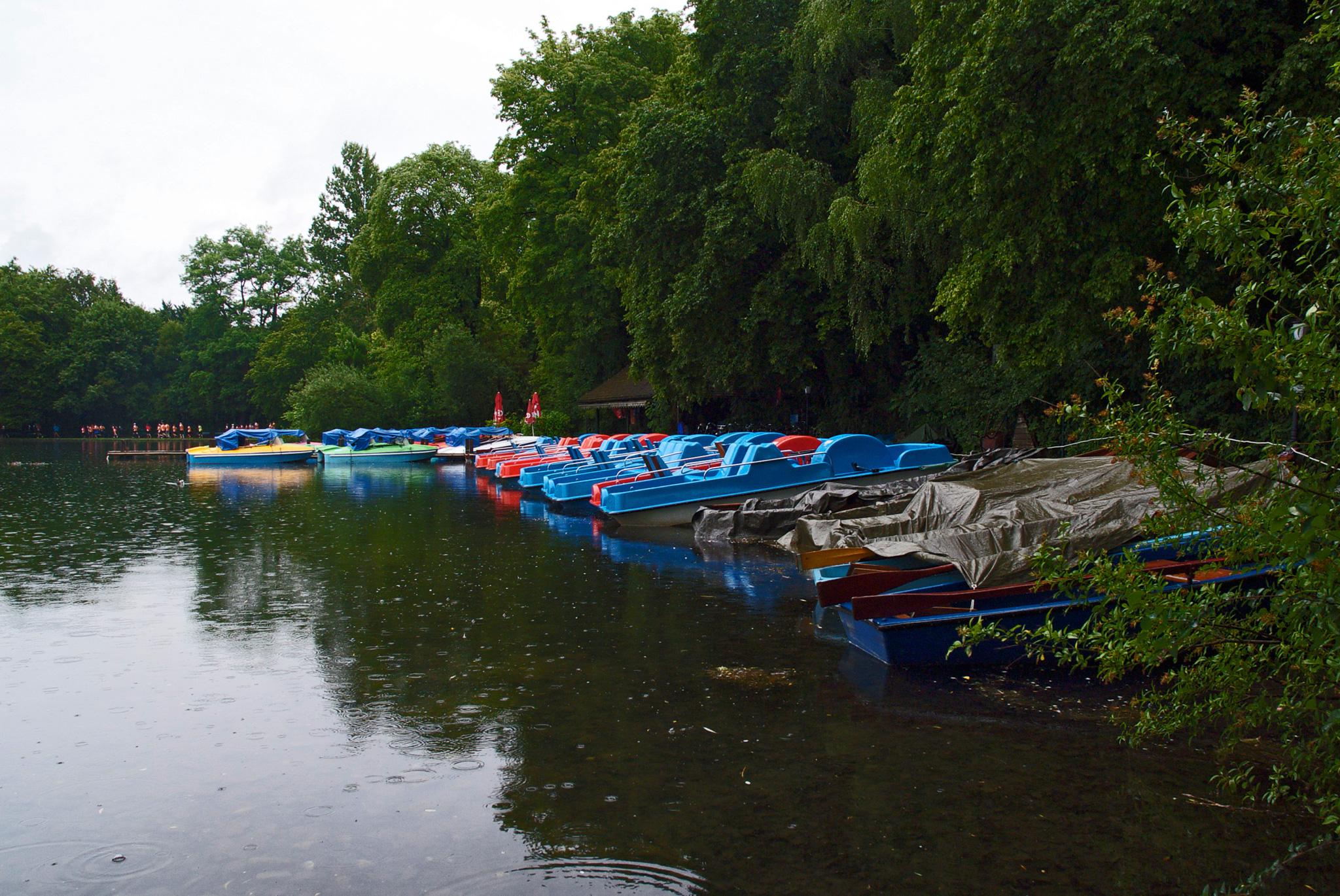 Am Rande von Schwabing: Bootsverleih im Englischen Garten