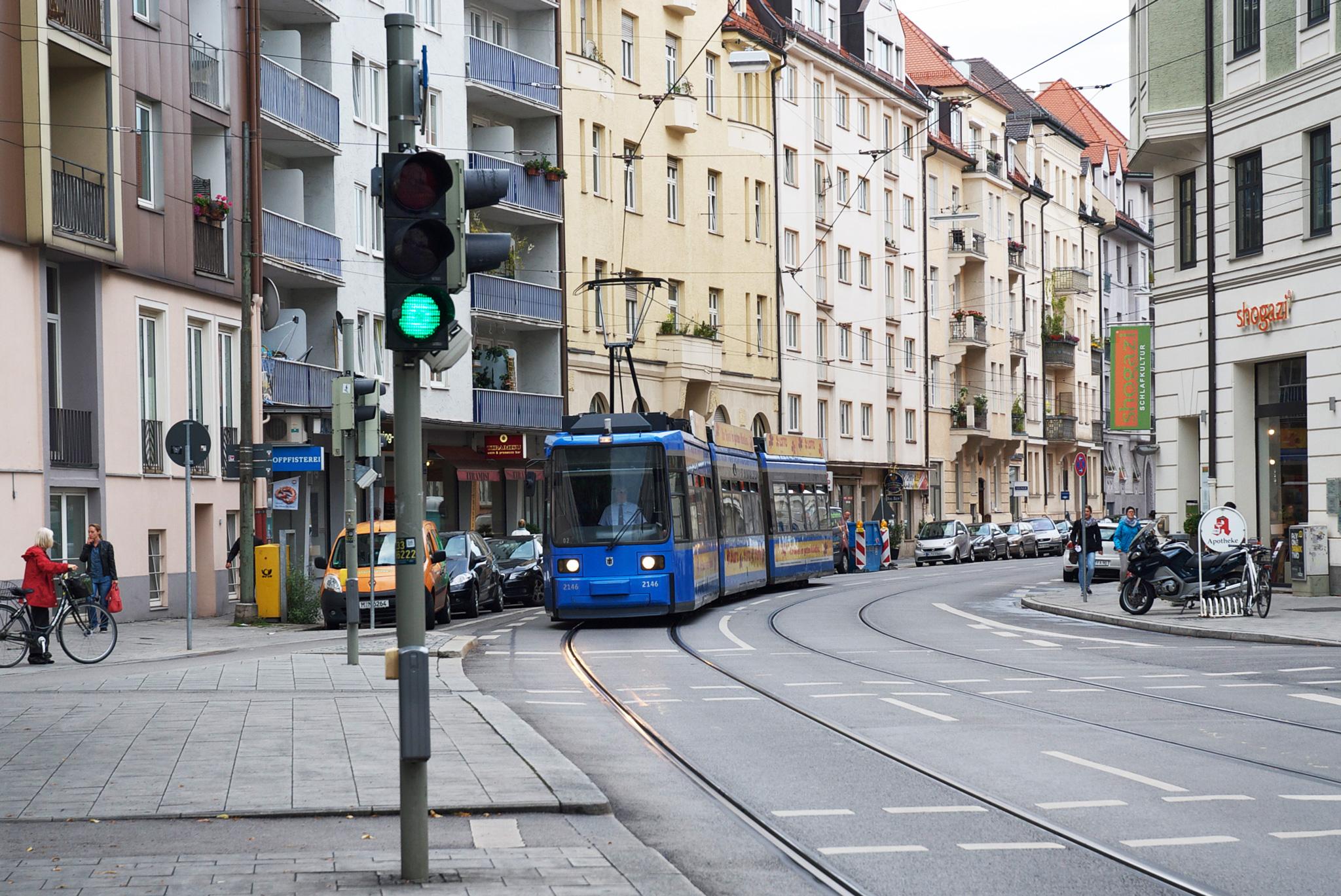 Die Trambahn der MVG wurde 1996 nach München geliefert.